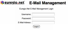 Mail Konfiguration Login